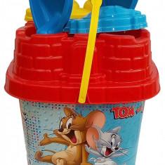 Set Dema , Galetusa 19 cm , cu 6 accesorii pentru nisip , Tom si Jerry, 4-6 ani, Unisex, Multicolor, Mondo