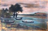 Mihail Lujanschi  , pastel , Delta Dunarii, Peisaje, Altul