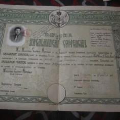 diploma bacalaureat comercial craiova  an 1941 caiet diplome