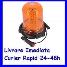Girofar Magnetic WL57 Portocaliu Omologat U.E. SMD 5730 12V/24V AL-TCT-997