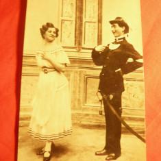 Ilustrata- Fotografie cu 2 actori maghiari interbelici ,circ. 1939
