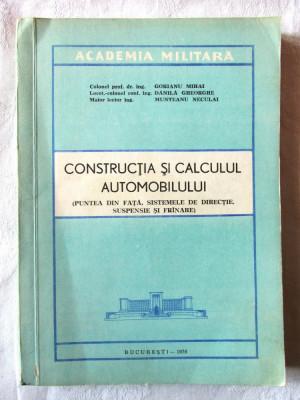 CONSTRUCTIA SI CALCULUL AUTOMOBILULUI, Col. prof. dr. M. Gorianu si col., 1976 foto