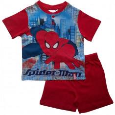 Pijama copii cu maneca scurta, Spiderman Marvel,in cutie, rosu , 5,6,7,8 ani