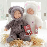 Papusa bebe in costum de ursulet care spune Ingerasul, Generic