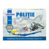 Set constructie MomKi tip Lego Barca Politie 215 piese