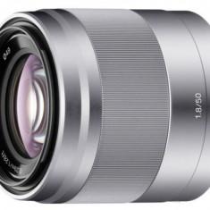 Obiectiv Foto Sony SEL-50F18S, 50mm, f/1.8, pentru portrete (Argintiu)