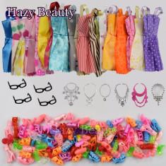 Set 30 accesorii pentru Barbie rochii/ pantofii/ lantisoare/ ochelari/