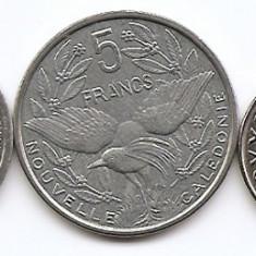 Noua Caledonia Set 5 - 1, 2, 5, 10, 20 Franc  2001/03  UNC !!!
