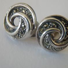 Cercei argint cu marcasite -197