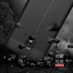 Carcasa de protectie Litchi Leather husa silicon TPU pt Samsung Galaxy J5 2017