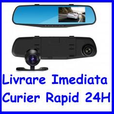 Monitor 4inch tip oglinda cu 2 camere fata-spate DVR  F1-50