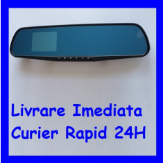 Monitor 2.8 inch tip oglinda retrovizoare cu camera video trafic DVR F1-48