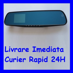 Monitor 2.8 inch tip oglinda retrovizoare cu camera video trafic DVR F1-48