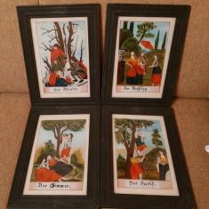 Tablou pictat pe sticla tablouri vintage cadou rama
