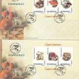 ROMANIA 2003 LP1616 a CIUPERCI COMESTIBILE SI OTRAVITOARE  TRIPTICURI  FDC, Stampilat