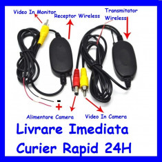 KIT Transmitator si receptor Video Wireless camera auto marsarier / Suport Numar