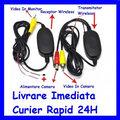 KIT Transmitator si receptor Video Wireless camera auto marsarier / Suport Numar foto