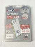Kit 2 Gb memorie PC DIMM DDR 2 PC2 5300 2x1 Gb DDR 2 667 MHz PNY sigilat, Dual channel