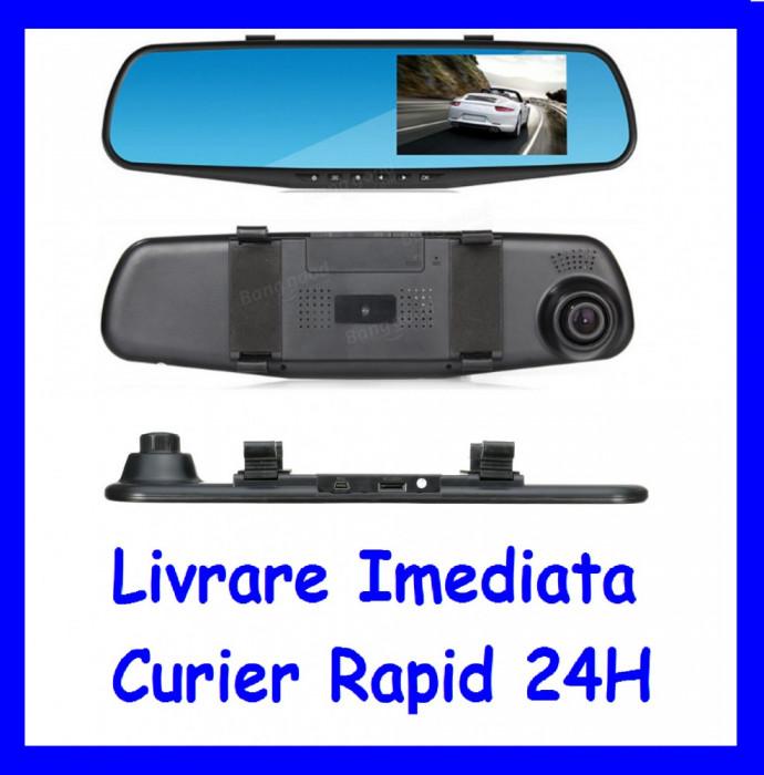 Monitor 4inch tip oglinda cu camera frontala DVR  F1-49 foto mare