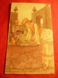 Ilustrata - Basm - Printesa si Broscoiul , interbelica, Necirculata, Printata