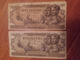 Lot de doua bancnote 100 lei 27 august 1947
