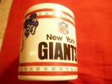 Cana Suvenir al Echipei de Fotbal American -New York Giants - h= 9 cm