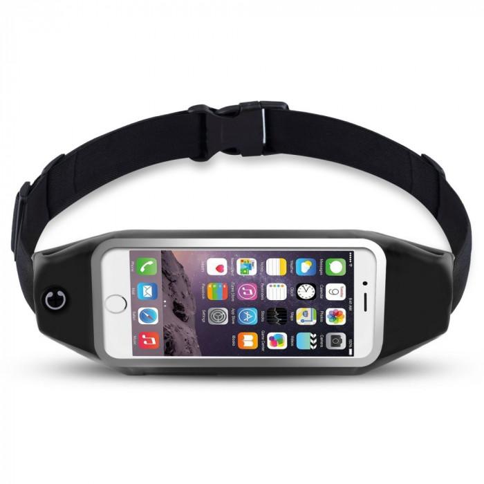 Borseta brau husa telefon pt alergat iPhone 6 7 Plus Samsung S7 Edge S8 S8 Plus