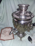 Samovar vechi rusesc,samovar electric nefolosit,instructiuni folosire,T.GRATUIT