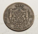2 bani 1882 Erori -litere intrerupte si riduri in ureche