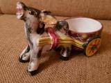 Solnita magarus bibelou portelan ceramica maniera Deruta handmade Italia