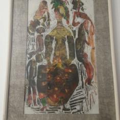 Tablou Tia Peltz, Abstract, Acuarela