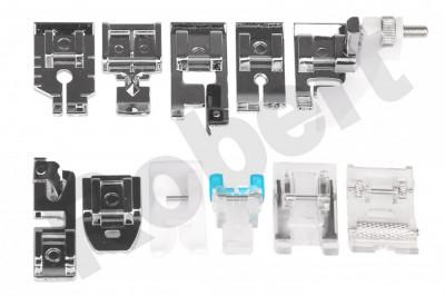 Set de 11 picioruse (talpite) / accesorii pt masini de cusut Singer Brother etc foto