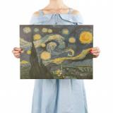 Poster Vincent Van Gogh Starry Night / Noaptea Instelata