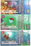 !!! INDIAN OCEAN - FAUNA & CORALI , LOT COMPLET (6 BUC.) 2017 - UNC / NR. 7 - 12