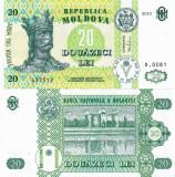 MOLDOVA 20 lei 2010 UNC!!!