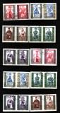 1960 polonia mi. 1156-1165 a+b stampilate, Stampilat