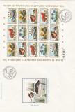 1983 LP 1084 a FLORA SI FAUNA REZERVATII NATURALE EUROPA  PERECHE  BLOCURI  FDC