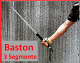 BASTON TELESCOPIC 3 ELEMENTE