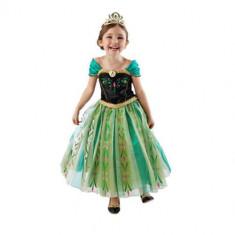 Rochie/rochita  Printesa Anna- verde Frozen, 3-4 ani, 5-6 ani, 6-7 ani, 7-8 ani, Din imagine