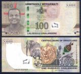 !!!  SWAZILAND  -  100  EMALANGENI  2017 (2018)   - P NEW  - UNC