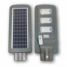 Proiector cu panou solar 60w senzor miscare si lumina, telecomanda 60 w