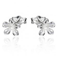 Cercei din argint - floare lucioasă