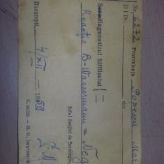 Analize medicale 1959,Institutul de seruri si vaccinuri Profesor CANTACUZINO
