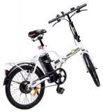 Bicicleta Electrica FreeWheel EBike Urban, Autonomie 20 - 25 km, Viteza 25 km/h, Motor 250 W (Alb)