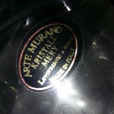 Vaza VINTAGE ARTE MURANO Kristall Mery,Made in Italy,TRANSP.GRATUIT