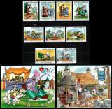 Romania 1985, LP 1145 + 1146 + 1147, Walt Disney (I) COMPLET, MNH! LP 168,00 lei, Animatii, Nestampilat