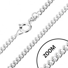 Lănțișor cu elemente de legătură răsucite ovale, argint 925, 1,7 mm