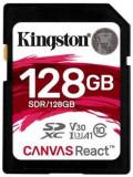 Card de memorie Kingston Canvas React, SDXC, 128 GB, 100 MB/s Citire, 80 MB/s Scriere, Clasa 10 UHS-I