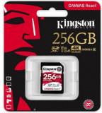 Card de memorie Kingston Canvas React, SDXC, 256 GB, 100 MB/s Citire, 80 MB/s Scriere, Clasa 10 UHS-I