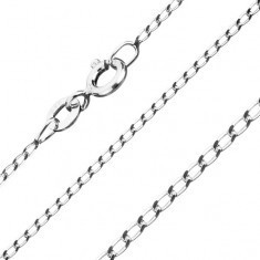 Lanţ din argint 925 - zale netede, alungite, 1 mm